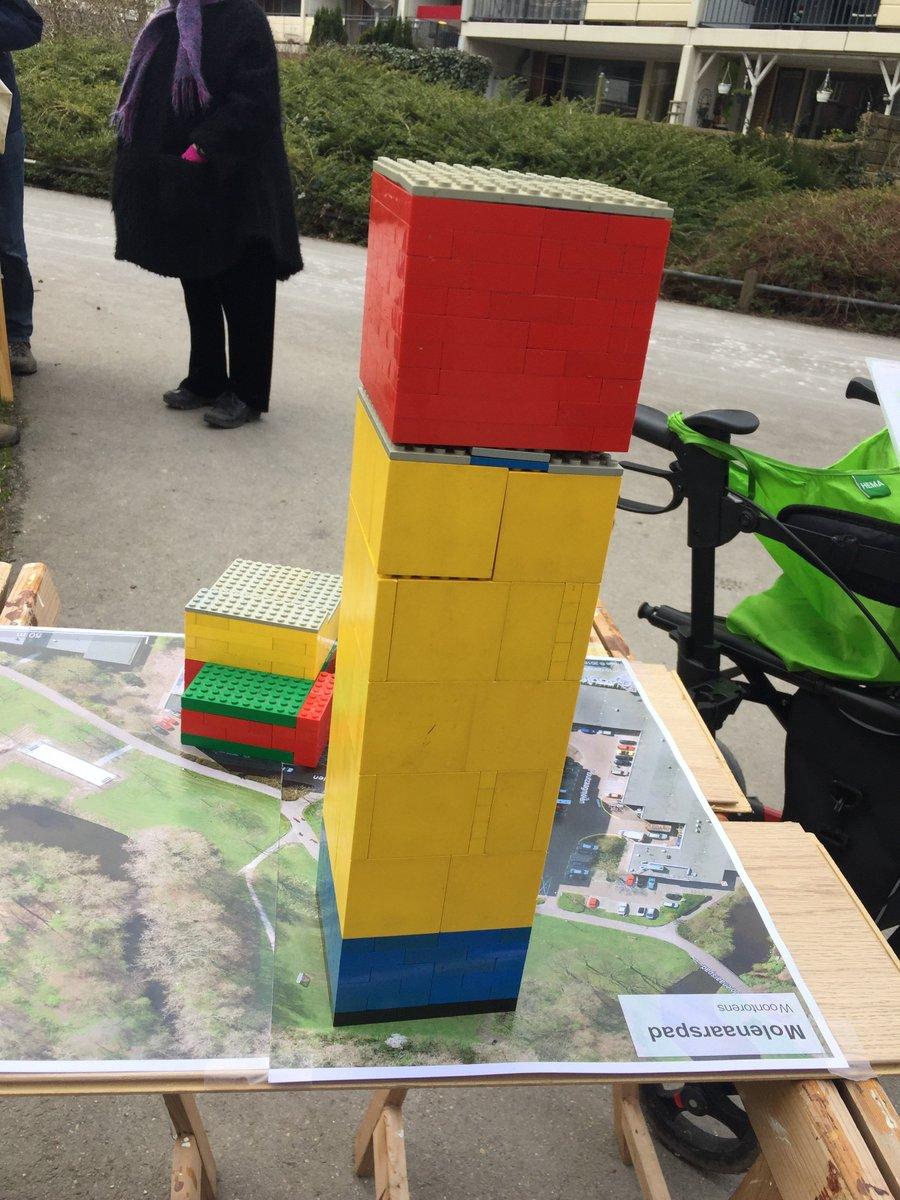 Hoogste toren tov huidige bebouwing op Molenaarspad