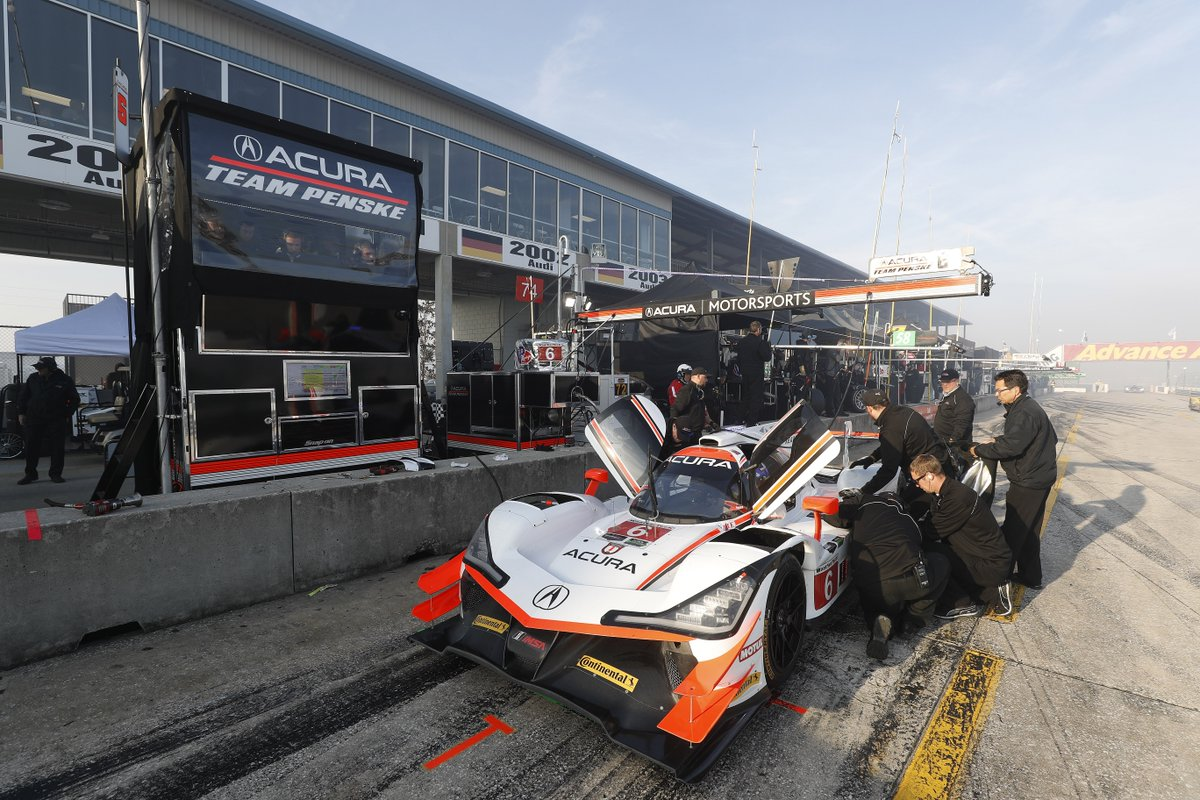 Morning warmup for the #Sebring12 is complete.  Both @Acura ARX-05s were in the top four, with @RickyTaylor_10 and the No. 7 first and  @jpmontoyain the No. 6 fourth. #IMSA
