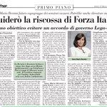 "Image for the Tweet beginning: Su #ItaliaOggi ""Guiderò riscossa di"