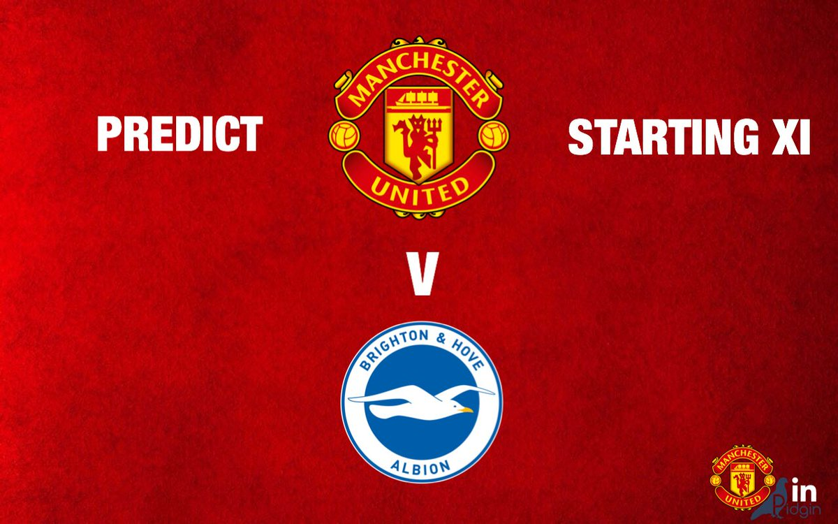 You fit predict the Starting Line up wey Manchester United go use against Brighton?   #MUIP #FACup