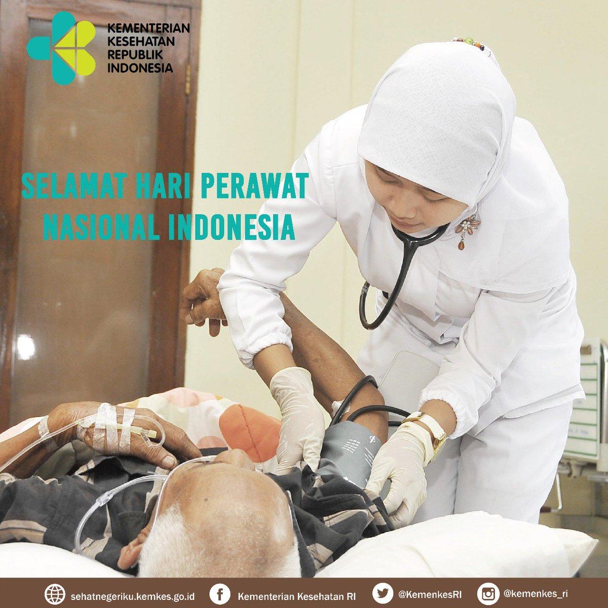 Selamat Hari Perawat Nasional Indonesia 😀. Terima kasih atas jasa perawat untuk menyehatkan bangsa 😀  #IndonesiaSehat