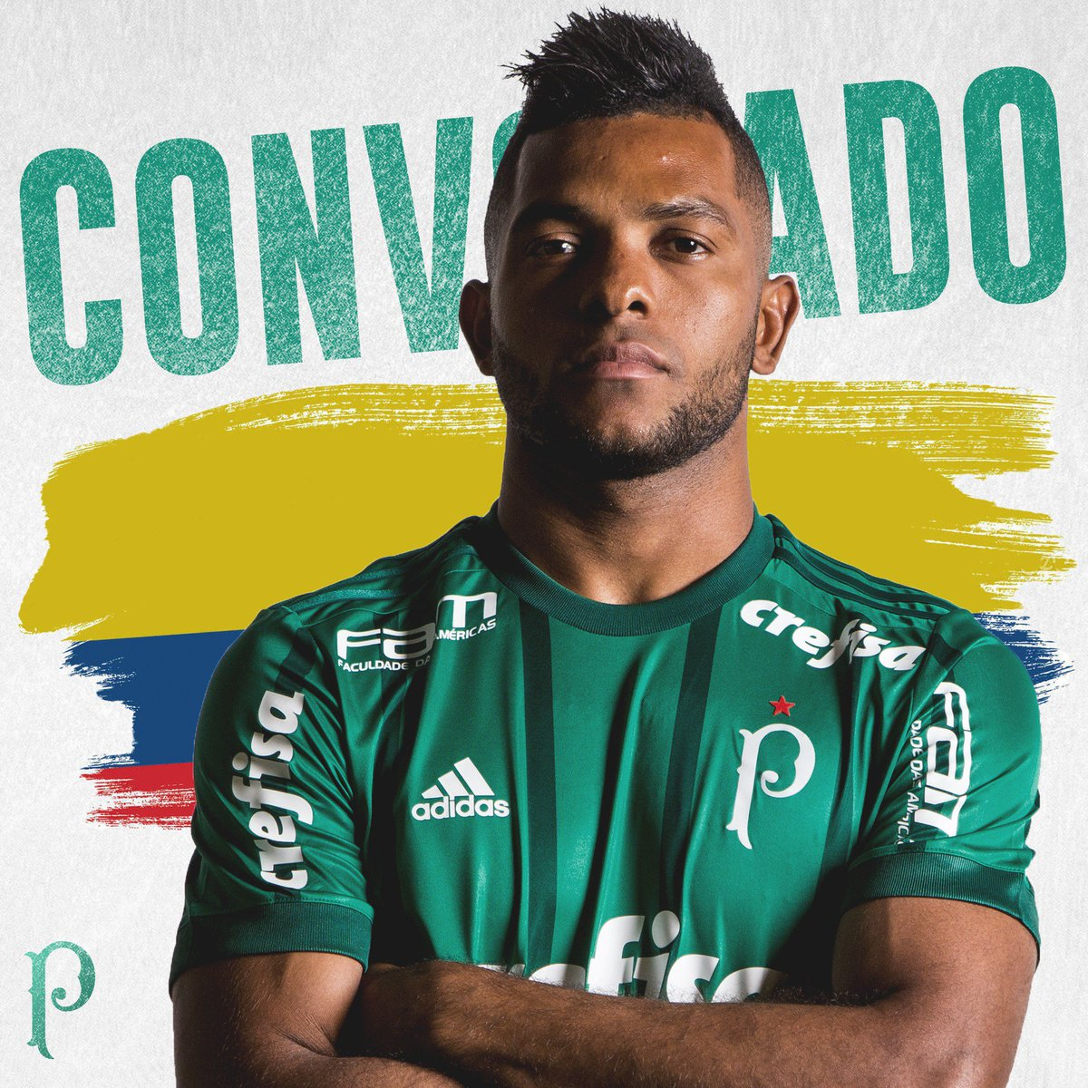 O artilheiro do Verdão começou o ano voando e foi convocado pela seleção colombiana para amistosos contra França e Austrália. Parabéns, Borja! 🇨🇴  #AvantiPalestra