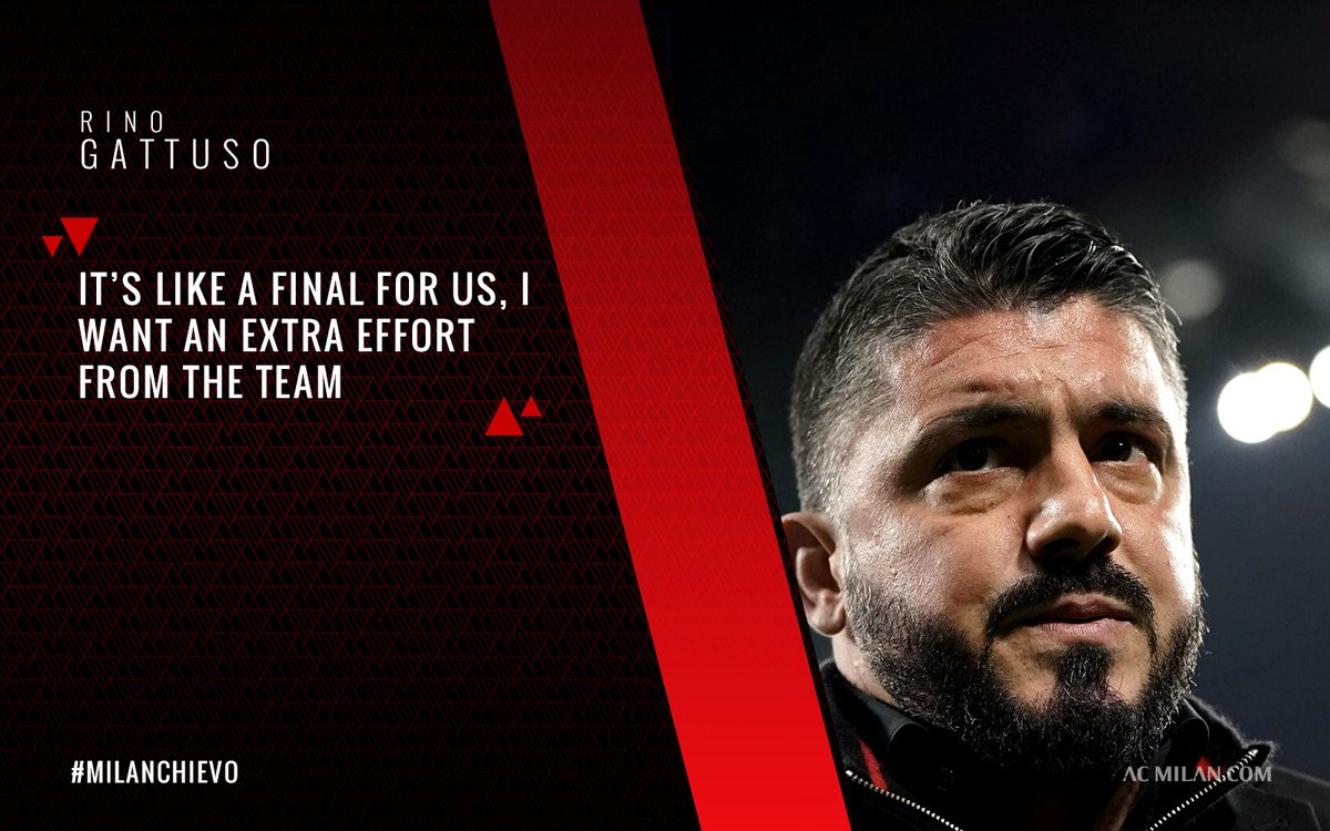 Rino Gattuso sets his boys on red alert for #MilanChievo 🚨: 'Its' a tricky game and we must win'. Read the boss's words at the pre-match press conference: https://t.co/7edlyAeU3d