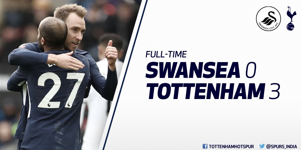 FT  ⚪ #Swans 0-3 #THFC 🔵   The @Emirates...