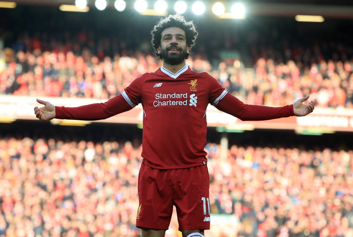 🇪🇬 @22MoSalah for @LFC this season:  🔴 Games: 39 ⚽️ Goals: 36  ✅ PL Top Scorer 📅 LFC Player Of The Month: 4 🥇 PL Player of Month: 2  👑 The Egyptian King 🎶