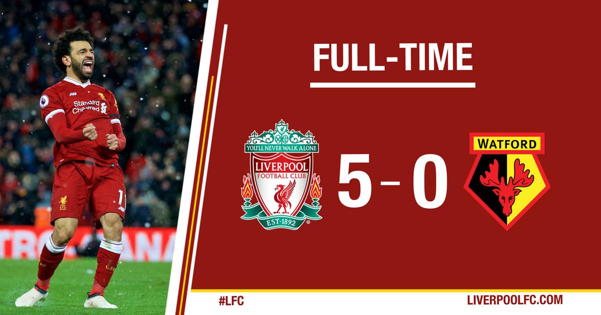 Chấm điểm kết quả Liverpool 5-0 Watford