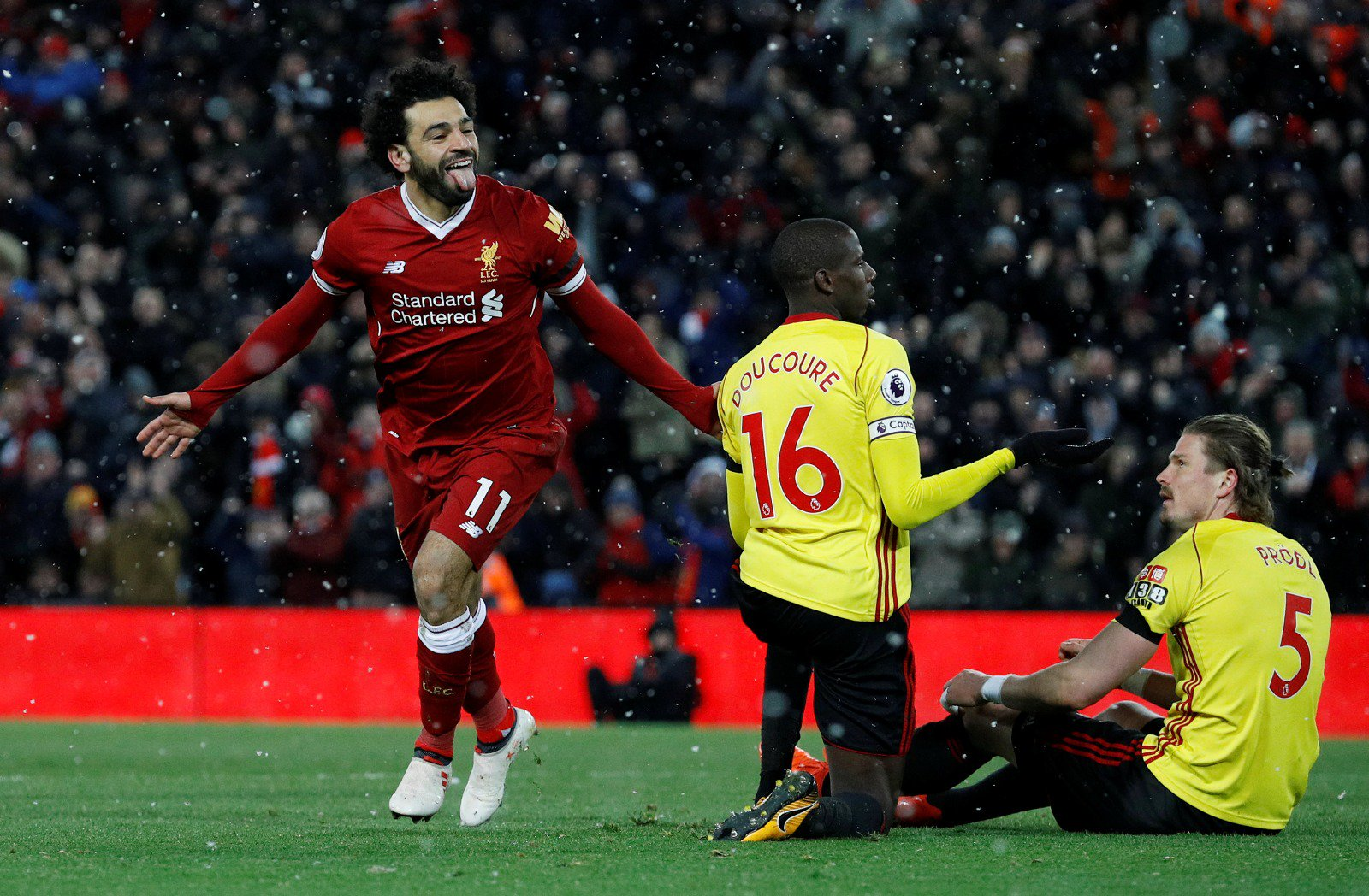 Mo Salah Mo Salah Mo Salaaaahh �������� Great night despite the cold! ❄ Good evening Reds! �� #LFC #YNWA https://t.co/elEbVuh4BD
