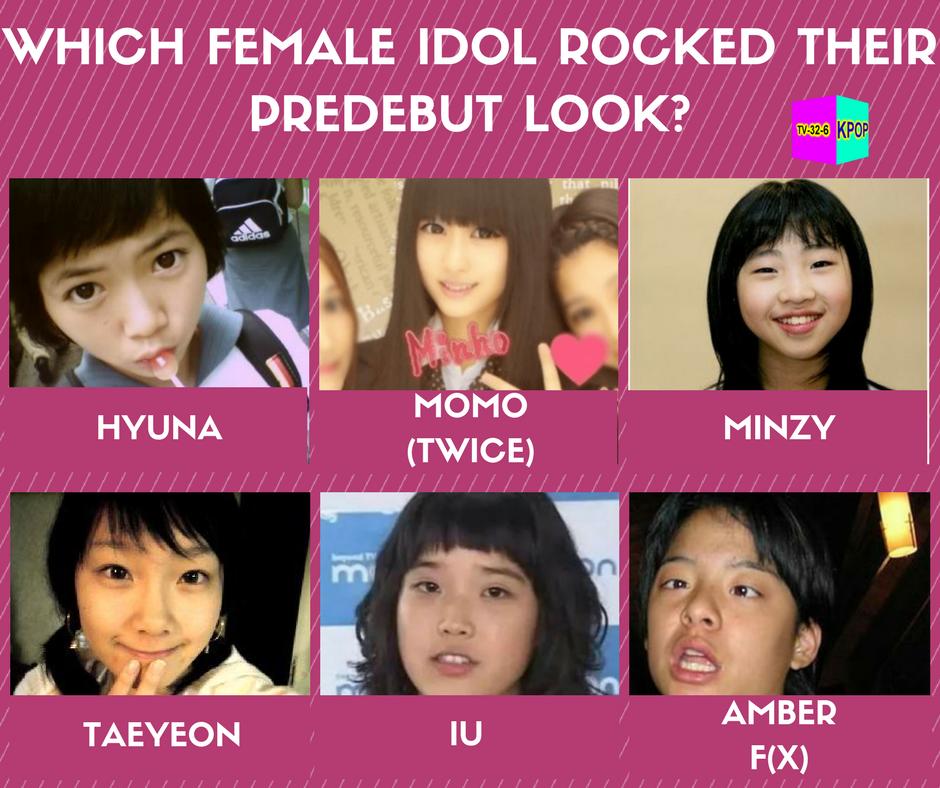 24hr Kpop Tv On Twitter Which Female Idol Was Queen Of Predebut Days Hyuna Momo Minzy Taeyeon Iu Amberfx Fxamber Kpop