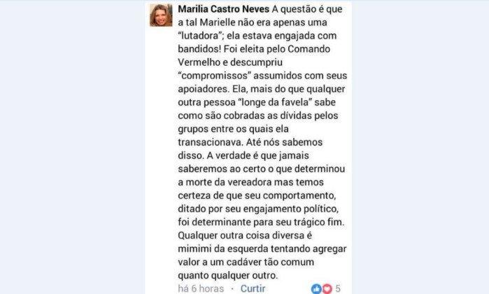 PSOL vai ao CNJ contra desembargadora que acusou Marielle de 'engajamento' com bandidos. https://t.co/lqzzO8VKlw