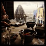 "Image for the Tweet beginning: ""FashTech Breakfast above the gherkin"