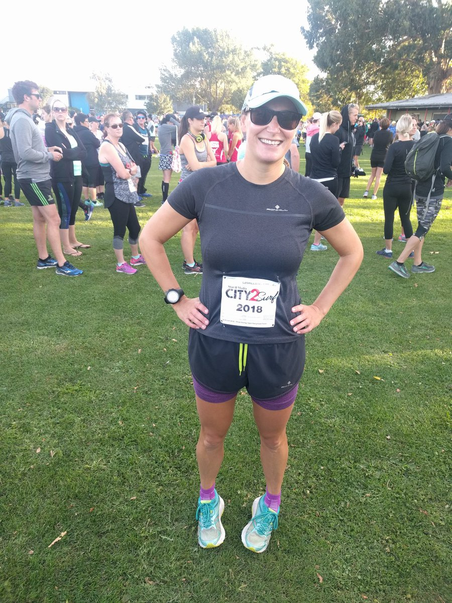 Ready for the City2Surf 14km, on no runn...