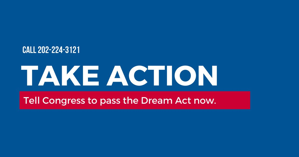 The only way Dreamers will be protected is if Congress does the right thing and passes the #DreamActNow. Take action: ✍️ https://t.co/FC9nhnLNgF