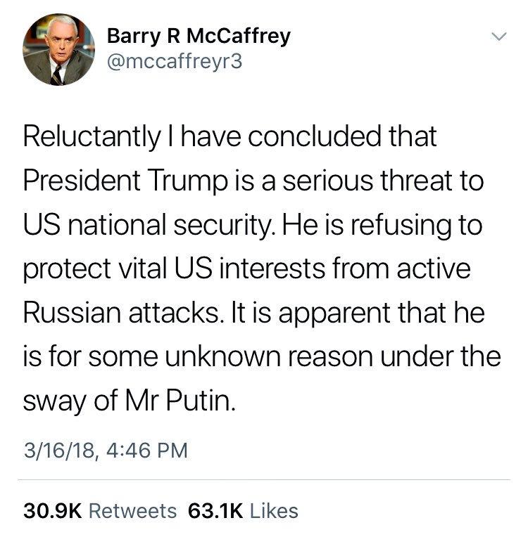 Retired 4-Star General Barry McCaffrey:...
