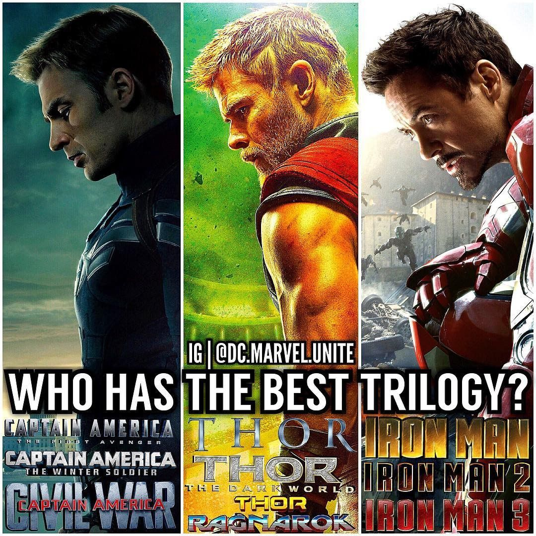 Who has the best trilogy? #IronMan #Thor...