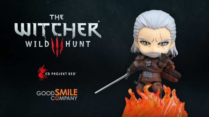 "The Witcher 3 Wild Hunt ~ GERALT ~ 3 9//10/"" Nendoroid Figure by Good Smile 2018"