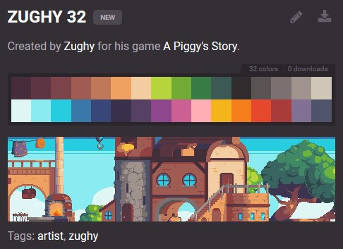 """Lospec on Twitter: """"New warm 32 color palette by @_Zughy ..."""