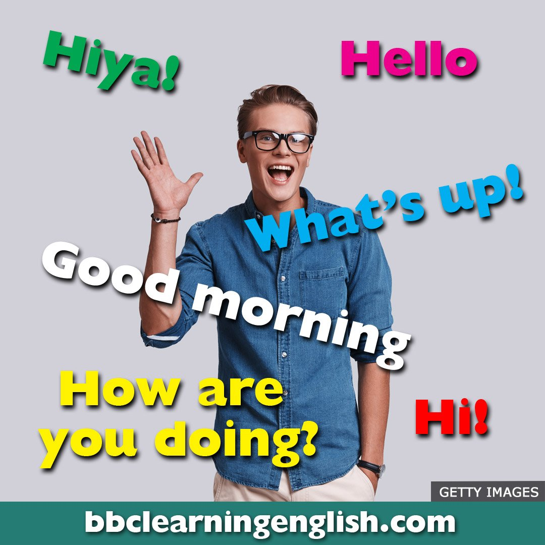 Say hello to the many ways to say 'hello' in English. What do you say? #learnenglish #vocab