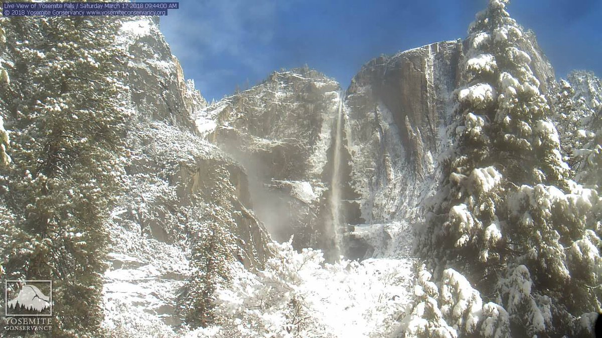 Recent #SierraNevada snow storms have left quite the wintry scene at @YosemiteNPS! Webcam imagery courtesy of @YoseConservancy #cawx