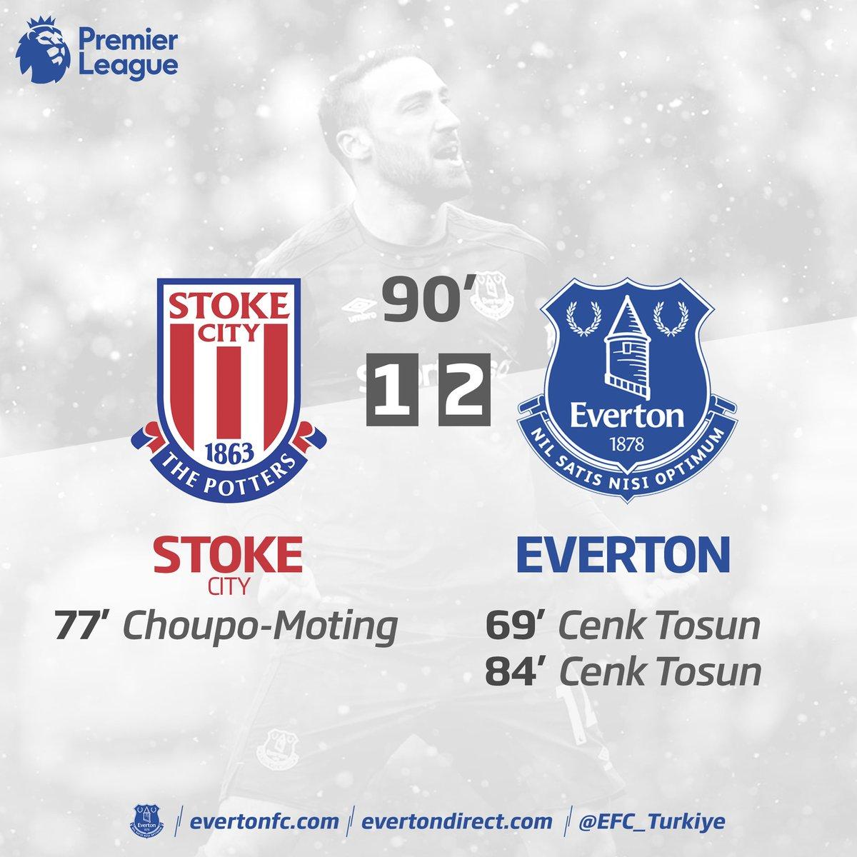 ⚽ Maç sonucu @stokecity 1-2 @Everton  Go...