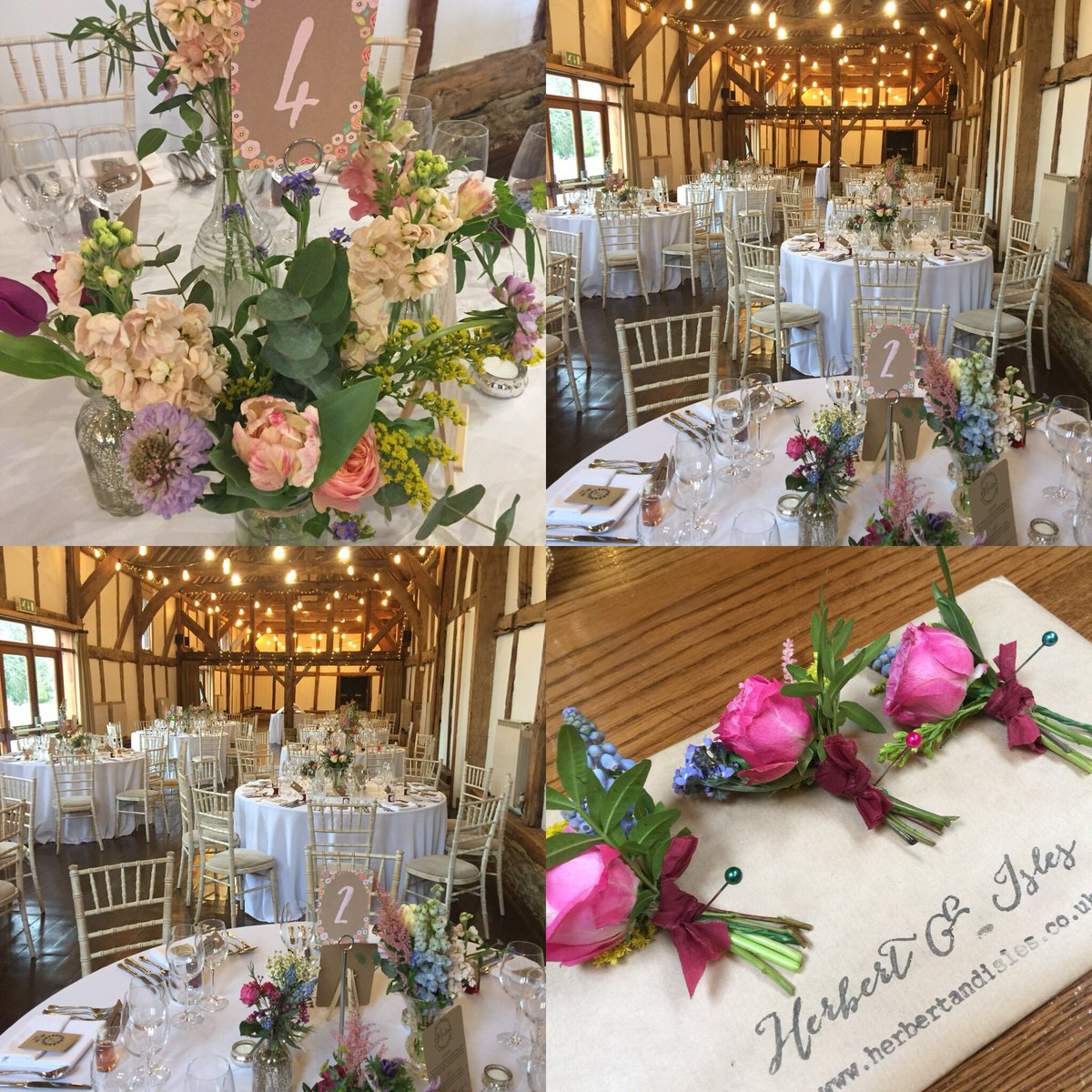 Lovely warm glow in the #barn today to welcome the #wedding guests!