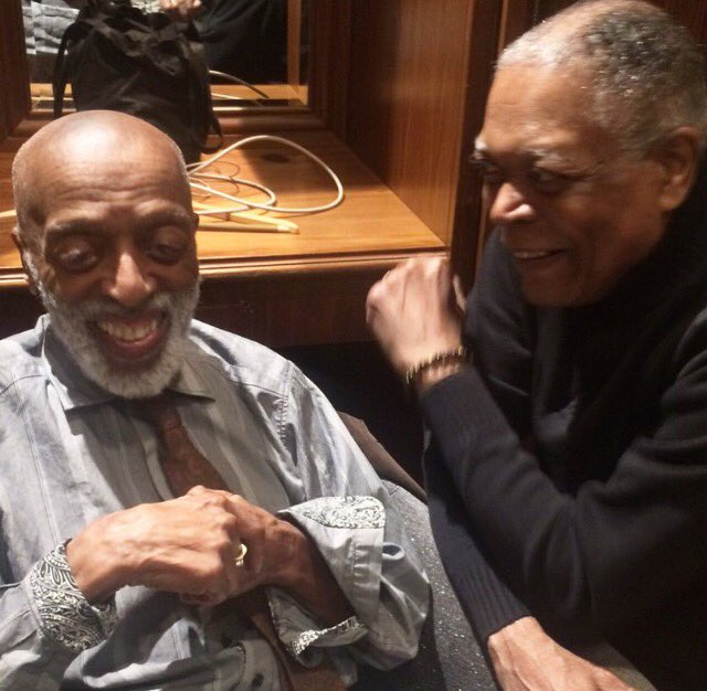 Backstage last night w/ two of my favorite drummers. The great Roy Haynes & the great Billy Hart https://t.co/T64TrLrb6a