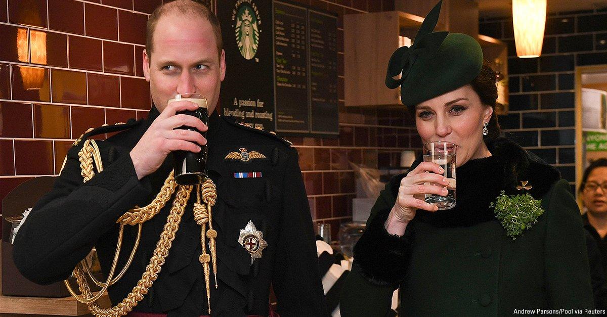 Britain's Catherine, Duchess of Cambridge and Prince William celebrate St. Patrick's Day. https://t.co/qNONPXixnC