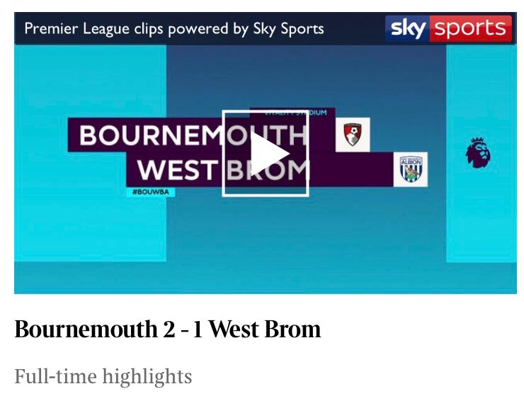 Huge day at the bottom of the Premier League and you can watch the highlights on @thetimes app now  Junior Stanislas's stunning free kick completes Bournemouth's comeback win over West Bromwich Albion #BOUWBA