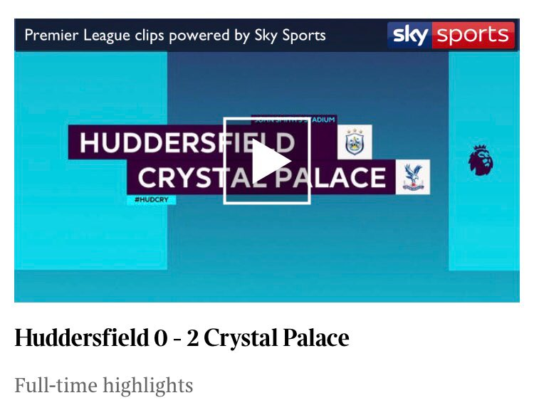 Wilfried Zaha inspires Crystal Palace to a victory away to Huddersfield Town that lifts them out of the Premier League relegation zone  Watch the highlights now on @thetimes app  itunes.apple.com/gb/app/the-tim…
