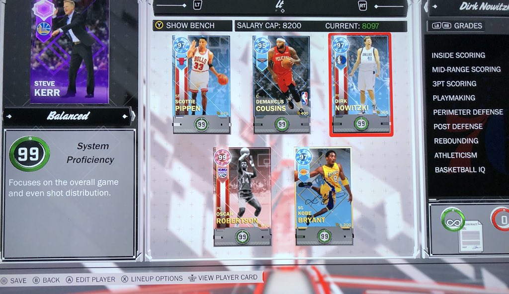 @NBA2K_MyTEAM thanks a lot for sorting me out with this sick team! @Ronnie2K