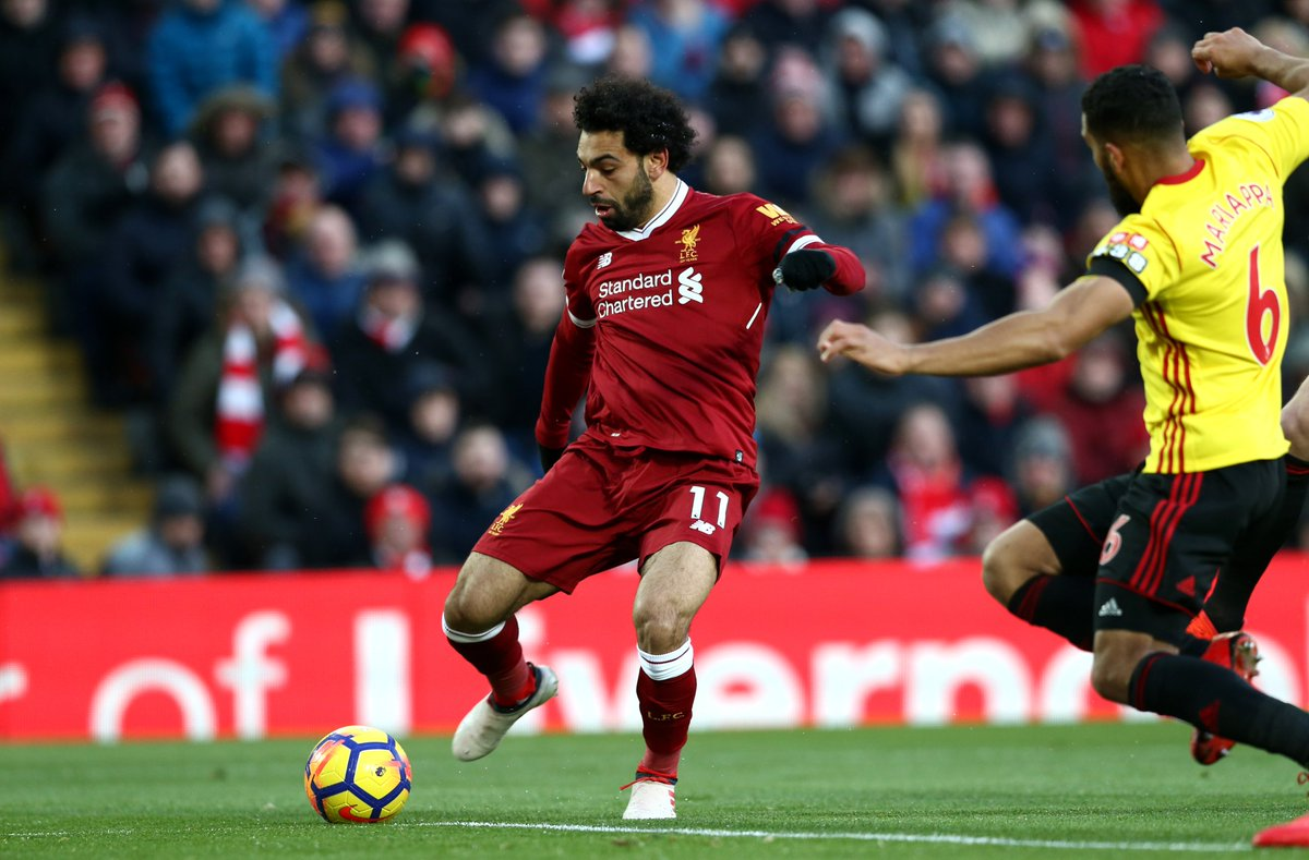 25 - Mohamed Salah has scored 25 Premier League goals this season, only one African player has netted more in a single campaign (Didier Drogba 29 in 2009-10). King.