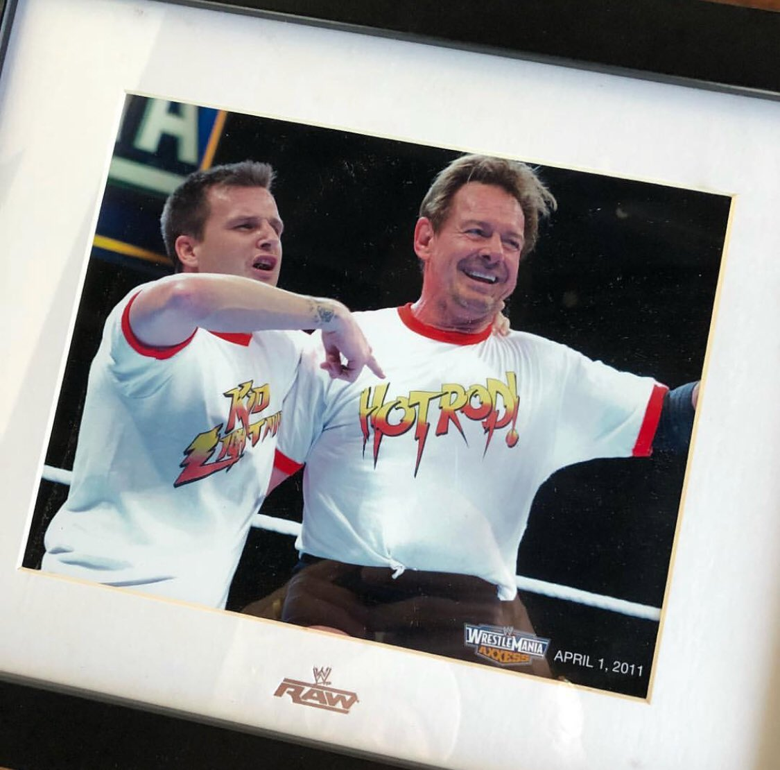 Just cleaning out some stuff at my office and found this gem. I still can't believe I  got  to wrestle with the legend Rowdy Roddy Piper. He was truly one of the coolest one of kind human beings I ever met. Truly grateful for him and the experience . #riphotrod #fantasyfactory