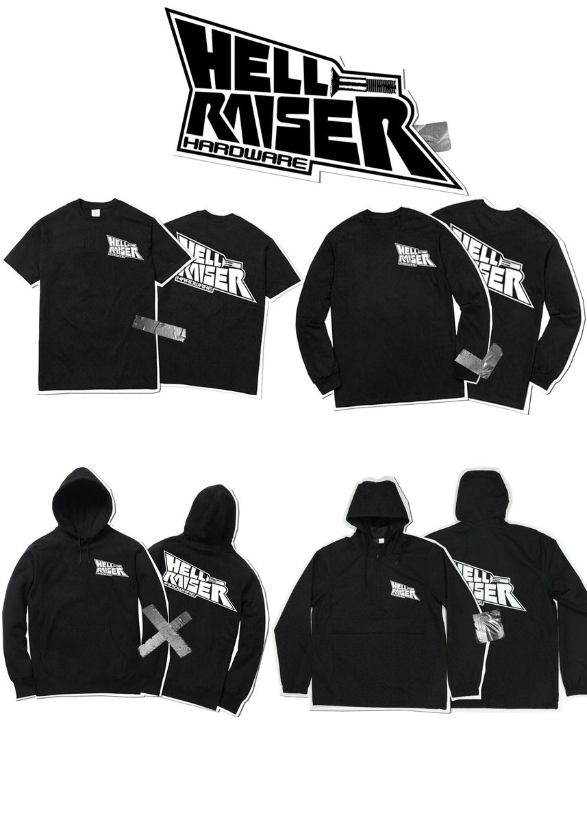 New Shit! Out Now! HellraiserHardware.com All orders *over $100 come with a free random item 😤🖕🏾