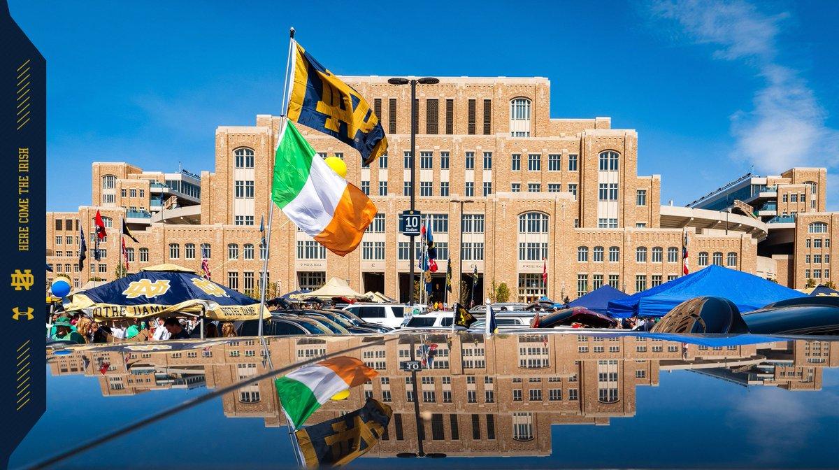 Notre Dame Stadium = best tailgate spot in the nation! #GoIrish ☘