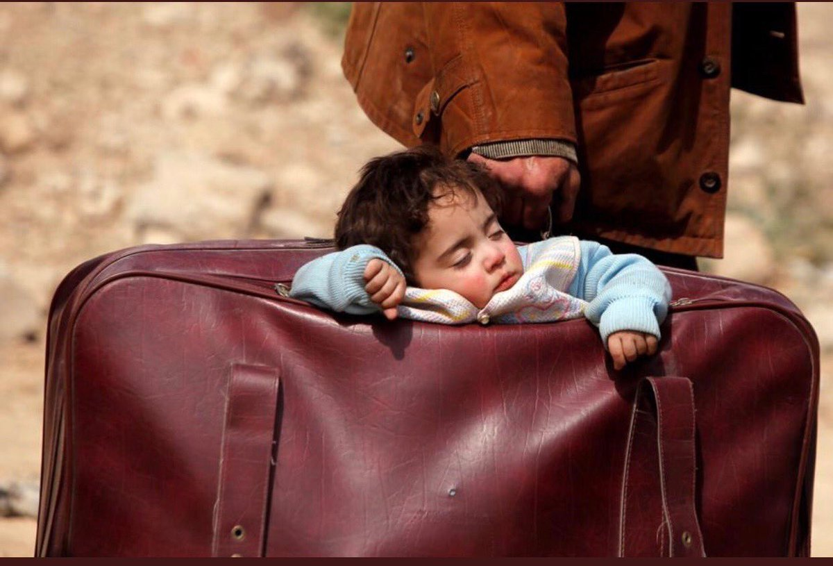 I know we have a lot of issues to deal with in our own country, but this is an image of a child being evacuated in Syria. You can help these families and babies by donating to @karamfoundation food, clothing, you can donate your time to help the families that are living here.