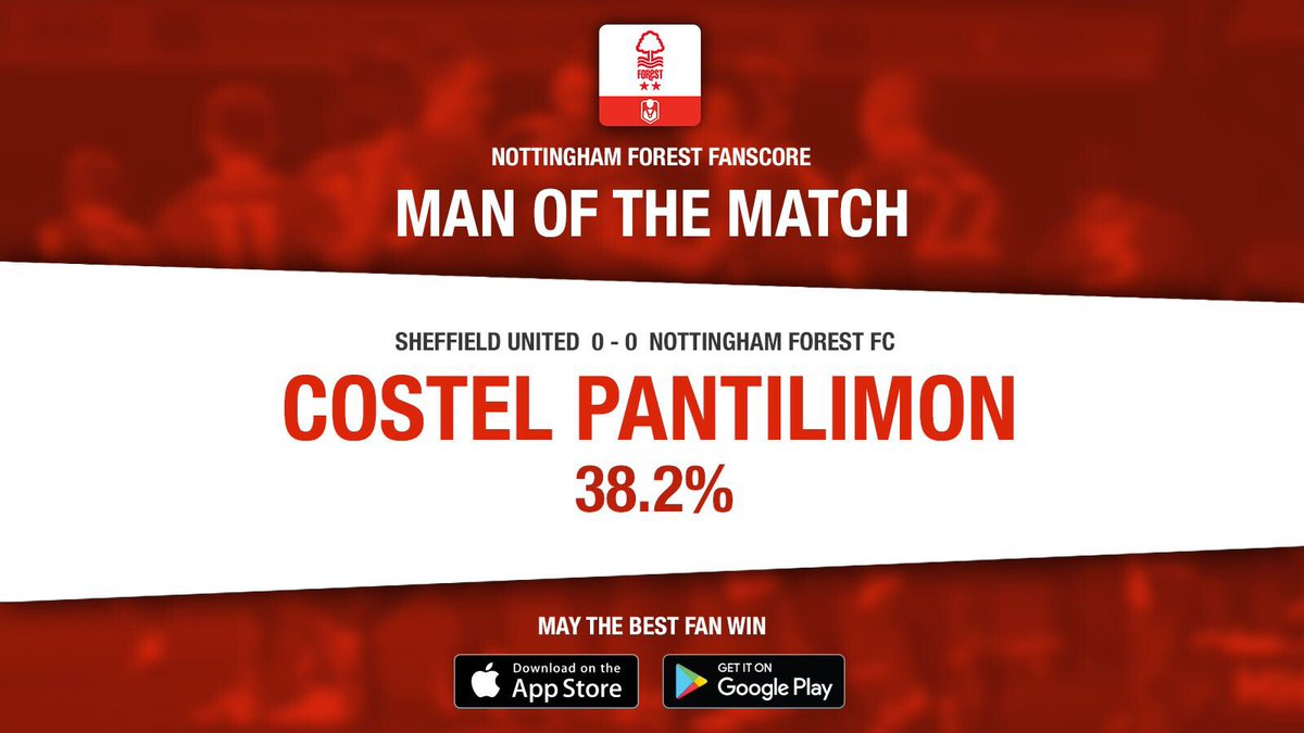 👏 #NFFC supporters voted Costel Pantilimon as the Man of the Match in this afternoon's goalless draw at @SUFC_tweets by using the official Fanscore app.