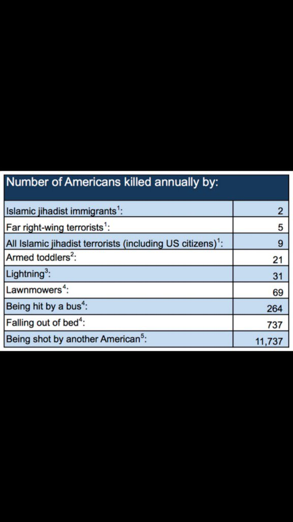test Twitter Media - Worry less about a foreign jihadist than your neighbour: 11,737 Americans shot to death annually by another American. https://t.co/N1VYYspVF0