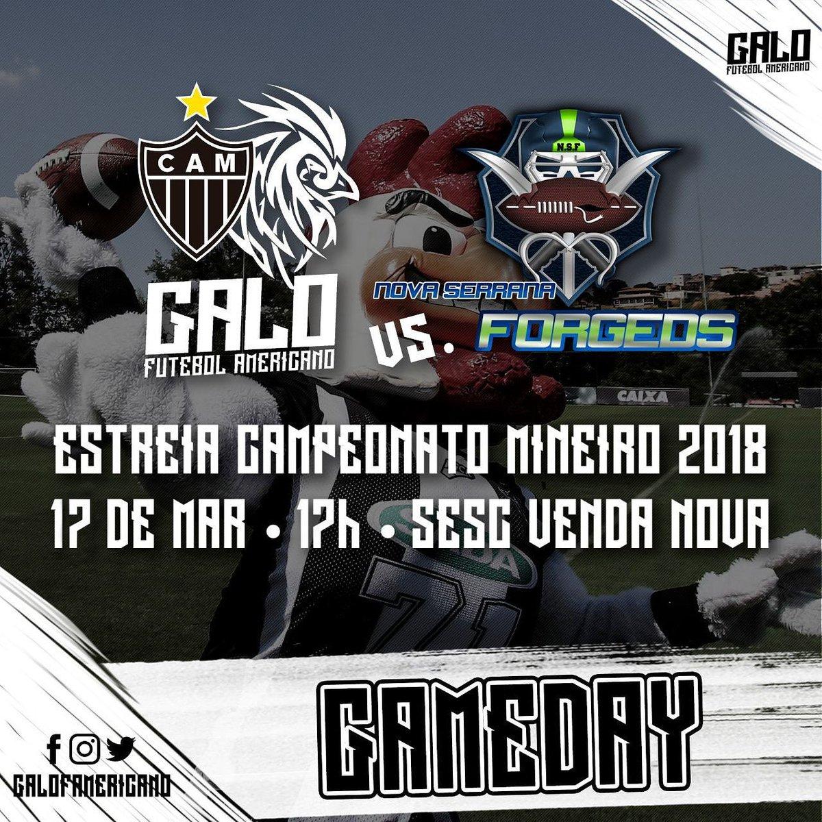 ffe3bec20 Touchdown! Confira a estreia do  galofamericano ao vivo! O Galo FA