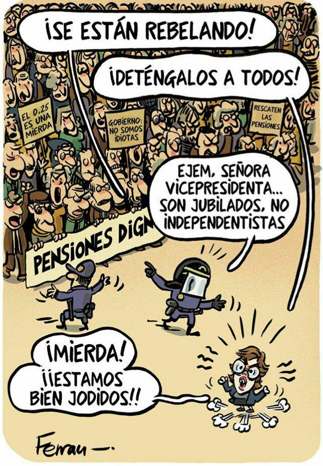Viñeta vía @eljueves. #L6Nvozpensionistas