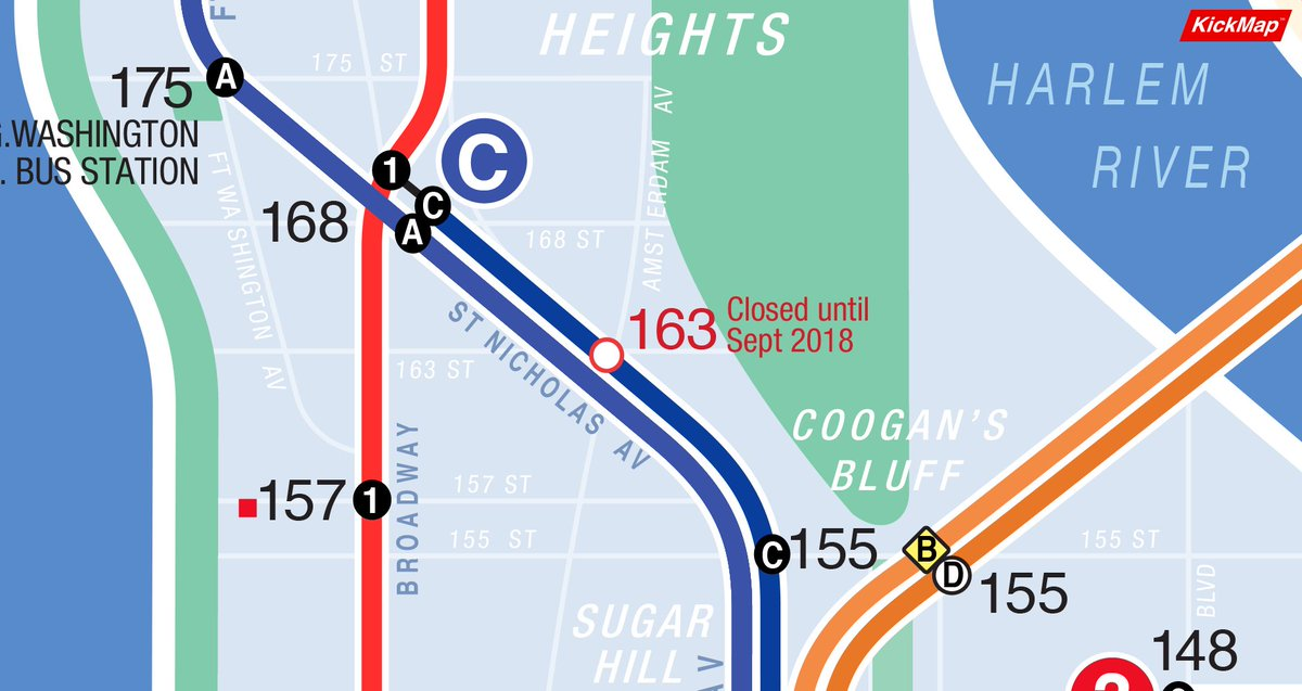 C Line Nyc Subway Map.Kickmap On Twitter Opening The Kickmap Nyc App With An Internet