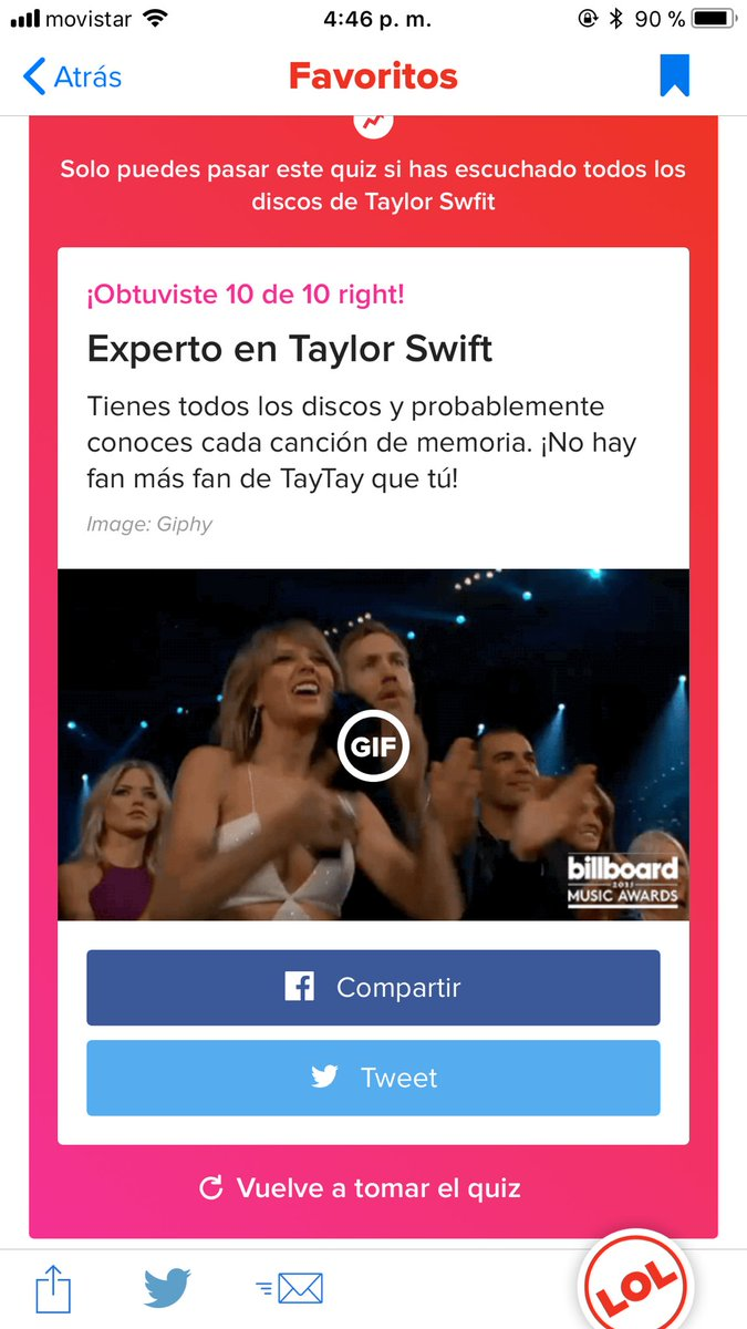 Me siento tan honrado 😍😍😍😊 soy un #Swift...