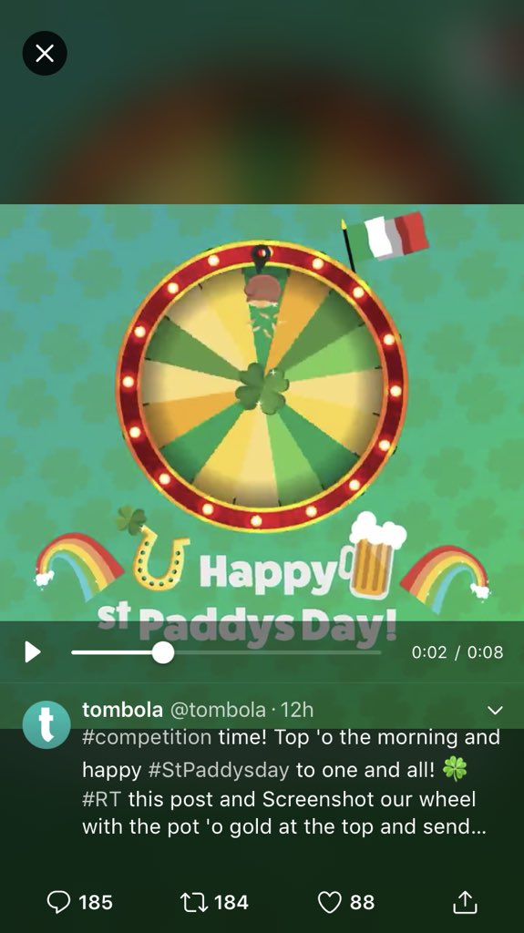 @tombola Happy #StPaddysday to you and a...