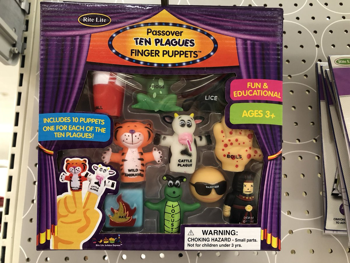 rosewater on passover ten plagues finger puppets