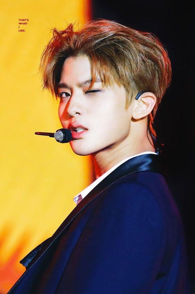 that perfect face tho 💛 #Baejinyoung #WA...