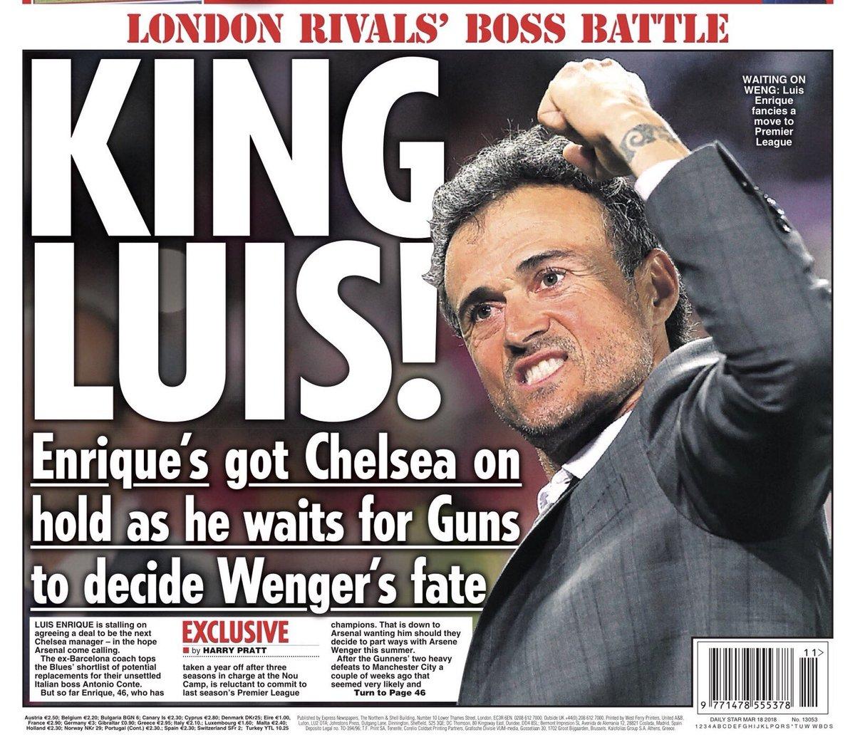 Luis Enrique oo dhabar jabinaya Chelsea si uu ugu biiro koox kale oo ingiriis ah