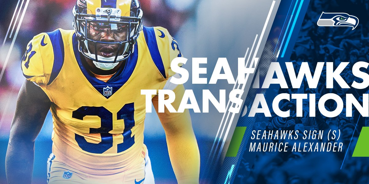 We've signed safety Maurice Alexander. #GoHawks   �� | https://t.co/DrvnjmnqCp https://t.co/tsimh2APzs