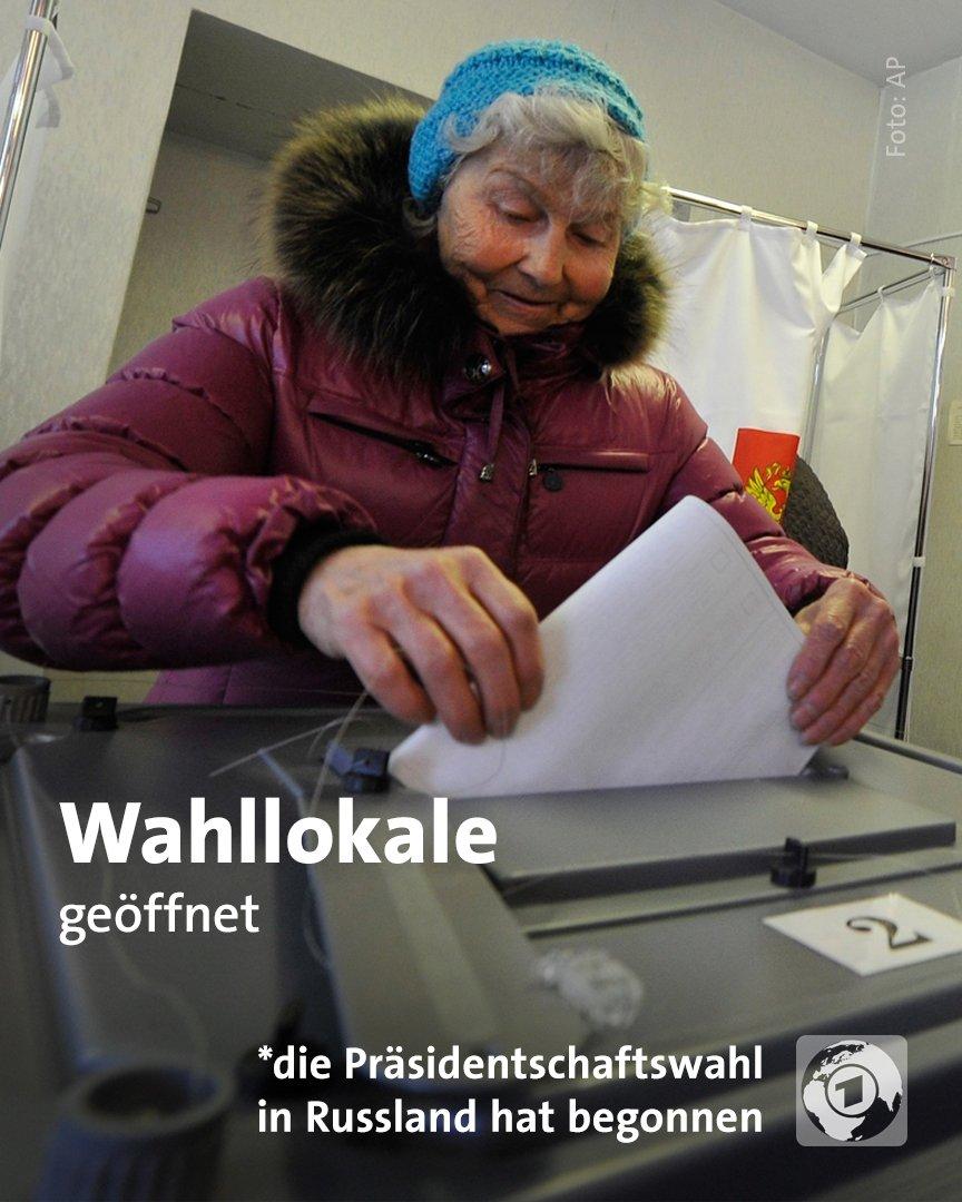 Im fernen Osten Russlands hat die #Präsidentschaftswahl begonnen. #Russland erstreckt sich über elf Zeitzonen. Der Urnengang endet am Sonntag um 19 Uhr (MEZ), wenn in der Exklave Kaliningrad die letzten Wahllokale schließen.