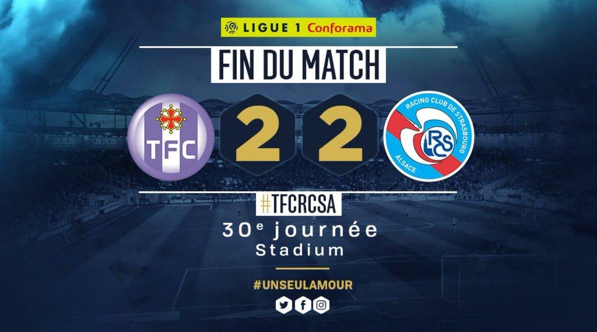 #Ligue1, altro pareggio per 2-2, questa volta tra #Tolosa e #Strasburgo. #Blayac porta in vantaggio gli ospiti, all\
