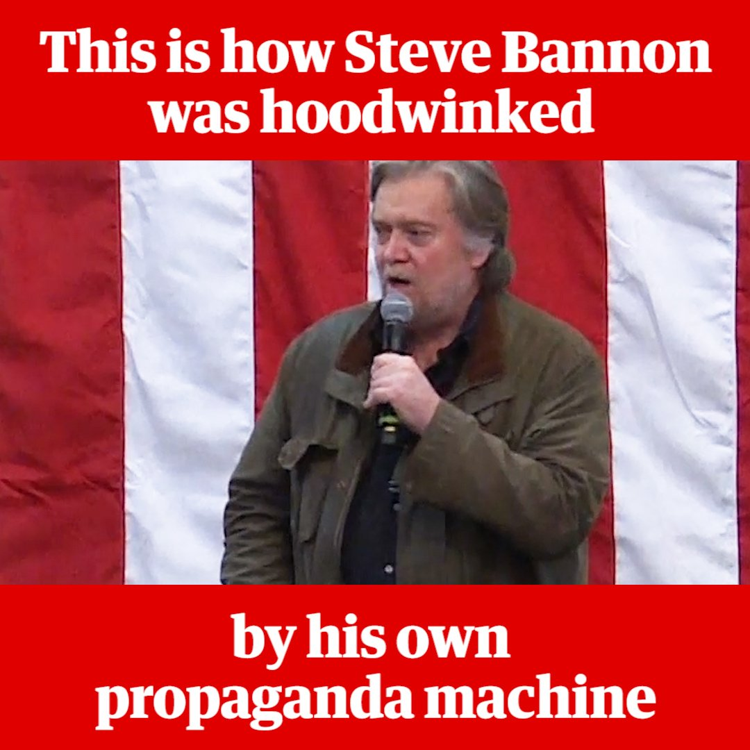 This is how Steve Bannon was hoodwinked by his own propaganda machine. More: https://t.co/iVNbQ3IsS7