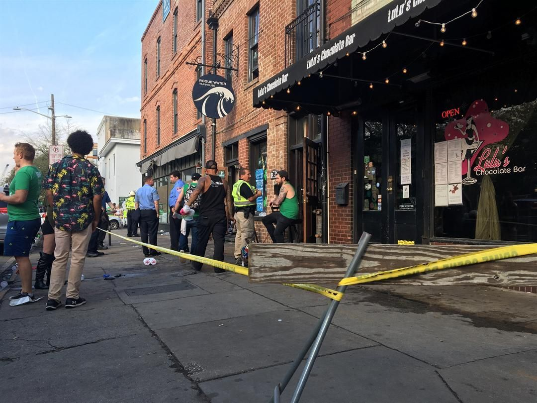 THIS JUST IN: Savannah bar collapses in the midst of St. Patrick's Day celebration, injuries reported>>>https://t.co/NOmxGrAzla