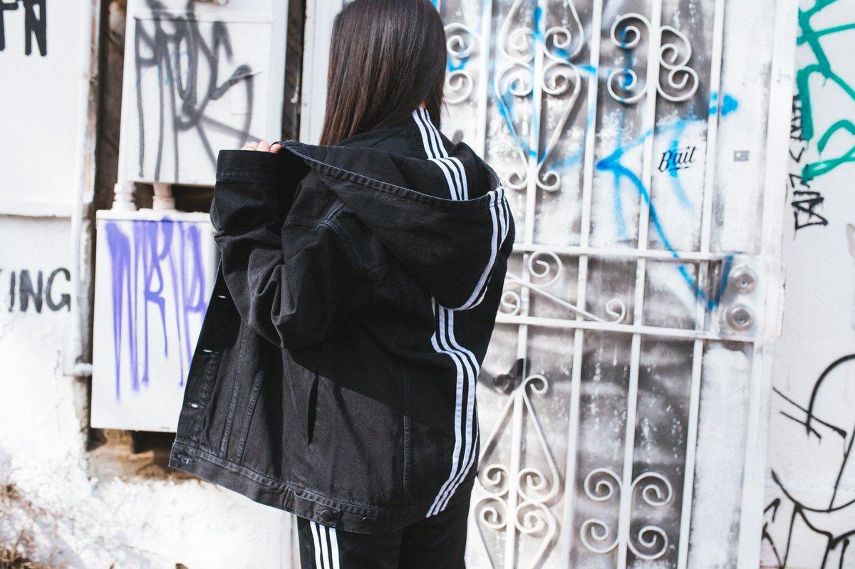 naked x adidas denim jacket